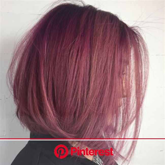How-To: Dusty Violet Rose - Behindthechair.com | Dusty rose hair, Hair styles, Dark pink hair