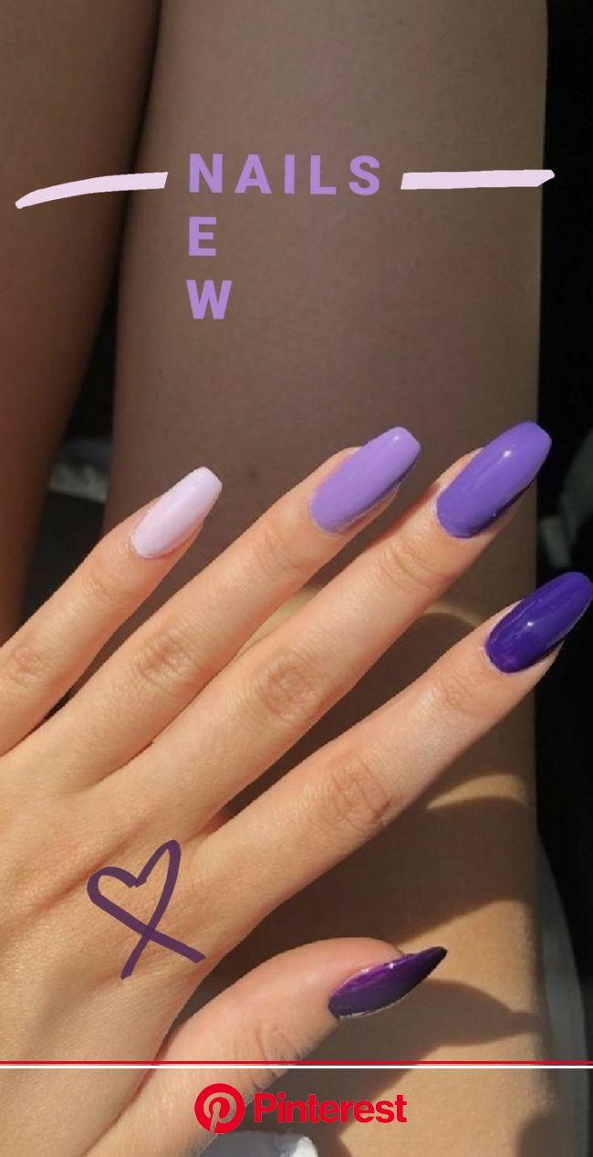 ꒰⚜꒱ 爱⁷ in 2021 | Edgy nails, Dream nails, Purple nails