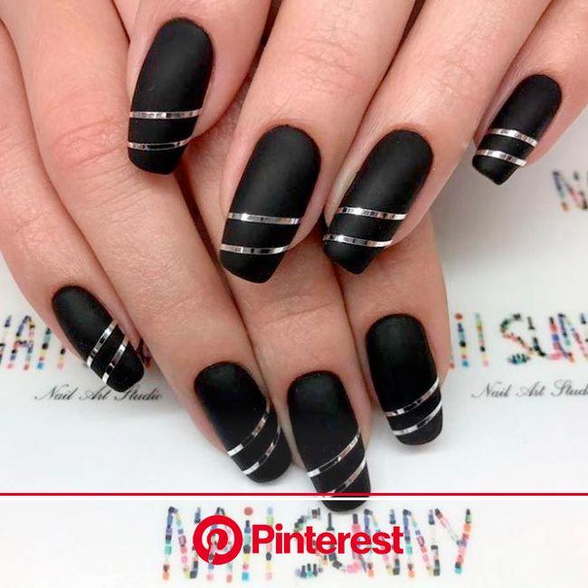 Try Fantastic Black Acrylic Nails | NailDesignsJournal.com | Black acrylic nails, Black acrylic nail designs, Stylish nails