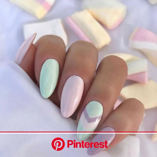 25 Breathtaking Almond Nail Designs to Try in 2020 | Mint nails, Almond nails designs, Perfect nails