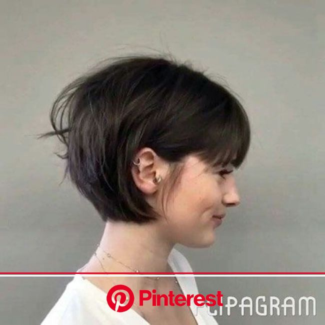 28 Short Hairstyles with Bangs | Short Hairstyles & Haircuts 2018 | Hair styles, Bob haircut with bangs, Short hair styles