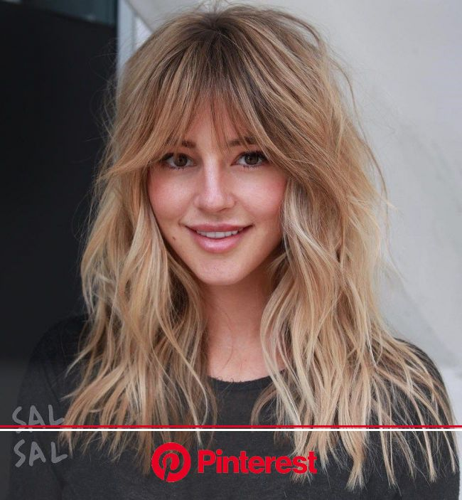 50 Cute and Effortless Long Layered Haircuts with Bangs | Long layered haircuts, Long shag haircut, Layered haircuts with bangs