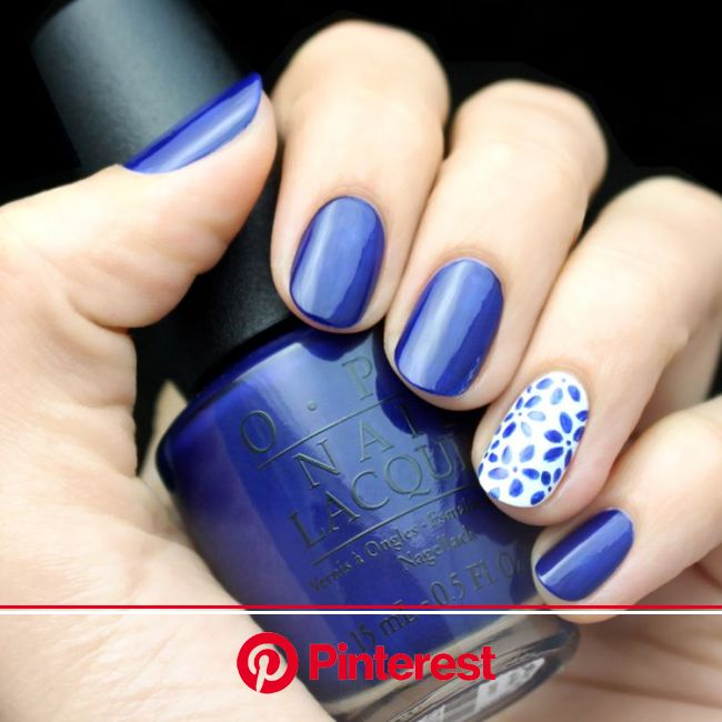 Mani Monday: White and Blue Floral Nail Tutorial - Lulus.com Fashion Blog | Floral nails, Floral nails tutorial, Blue nails