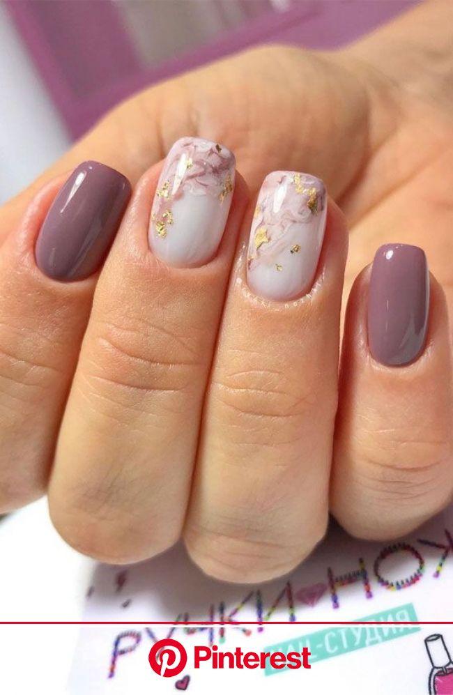 47 Beautiful Nail Art Designs & Ideas : marble and mauve nails in 2021 | Mauve nails, Short acrylic nails designs, Short acrylic nails