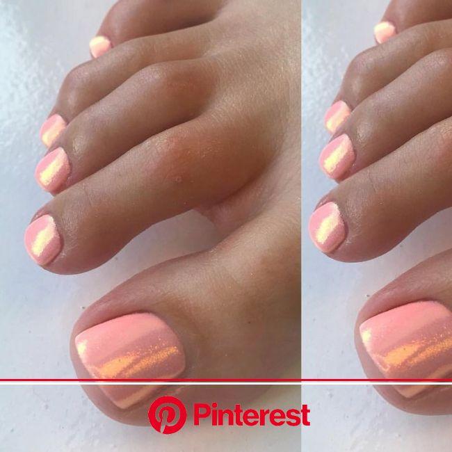 LIEBE diesen Pfirsich-Engel mit Meerjungfrau-Glitzer-Kombination #mermaidglit   LIEBE diesen Pfirsich-Engel mi… | Manicure and pedicure, Toe nail desi