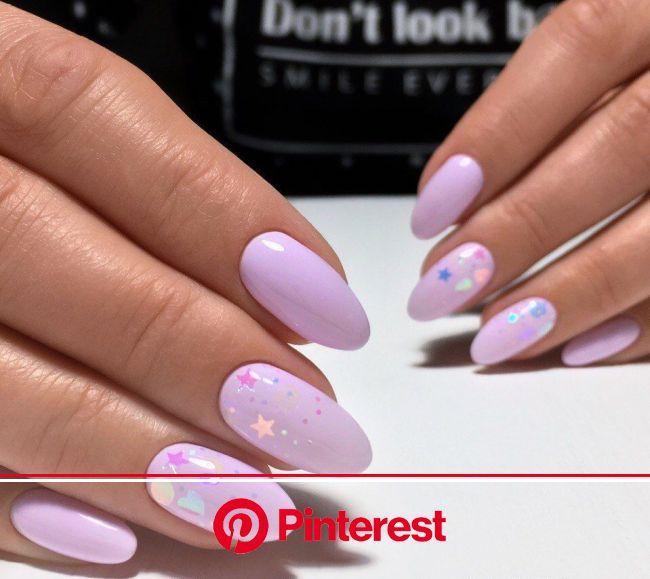 Маникюр | Ногти | Ногти, Сиреневые ногти, Дизайнерские ногти