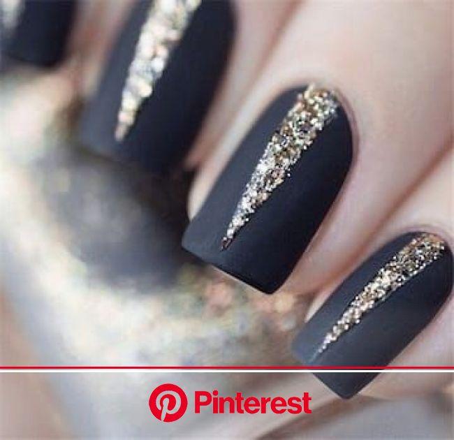 Diply | Matte black nails, Matte nails design, Classy nail designs