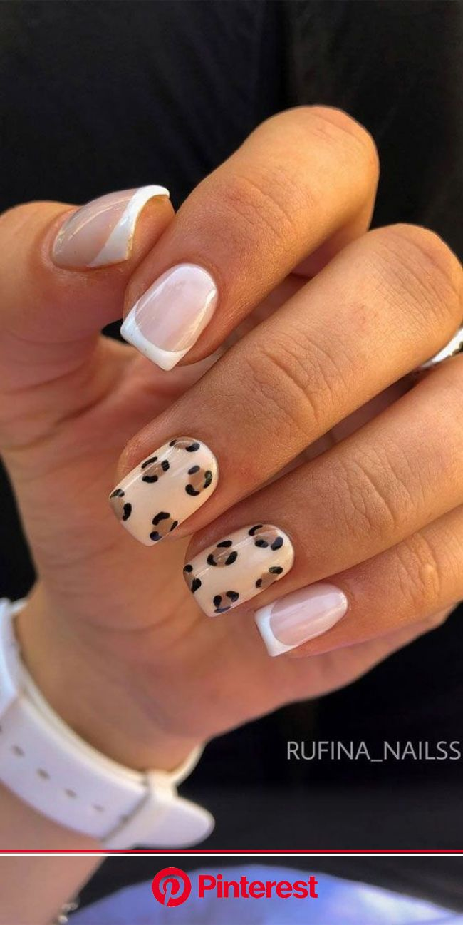 Trendy Animal print nail designs 2020 | Cow nails, Short acrylic nails, Animal print nails