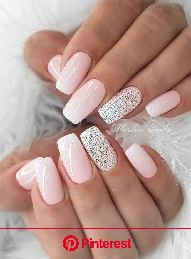 "The most stunning wedding nail art designs for a real ""wow"" in 2020 | Nail art wedding, Bride nails, Bridal nails"