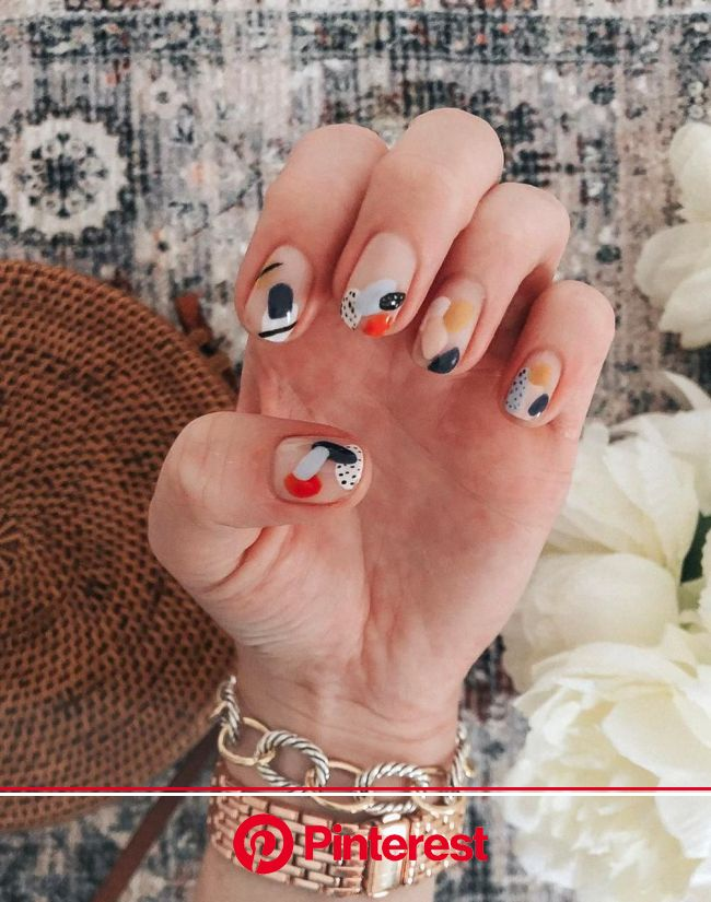Amanda Burrows  TAMPA BLOGGER on Instagram  NAIL  ART  abstract edition  my girl nailsbyjosie made my nail art dream… | Minimalist nails, Pretty nails