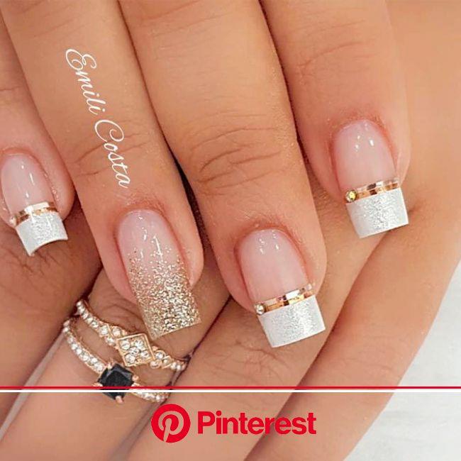 30 Beauty French Manicure To Be Elegant And Stylish (con imágenes)   Manicura de uñas, Uñas francesas, Uñas pintadas de encaje