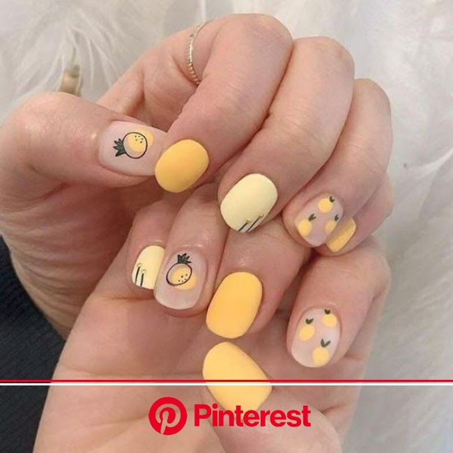 20 Trending Round Nail Designs To Copy in 2021 | Round nail designs, Round nails, Pineapple nails