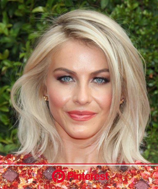 Julianne Hough Medium Straight Light Champagne Blonde Hairstyle | Champagne blonde hair, Medium hair styles, Julianne hough hair