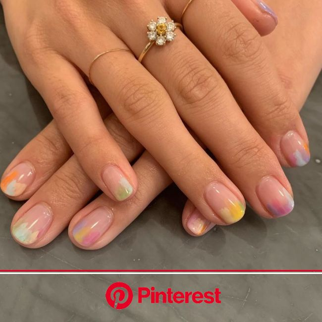 The 10 Best Nail Art Ideas for Short Nails | Glass nails, Jelly nails, Pretty acrylic nails