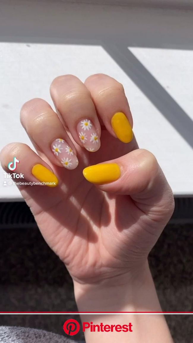 My Tips For Strong, Beautiful Nails [Video] [Video] in 2021 | Yellow nails, Daisy nails, Gel nails