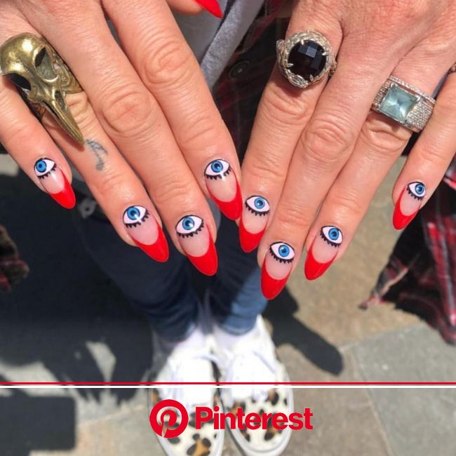 The Best Abstract Nail Art To See Before Your Next Salon Trip   Eye nail art, Abstract nail art, Funky nails