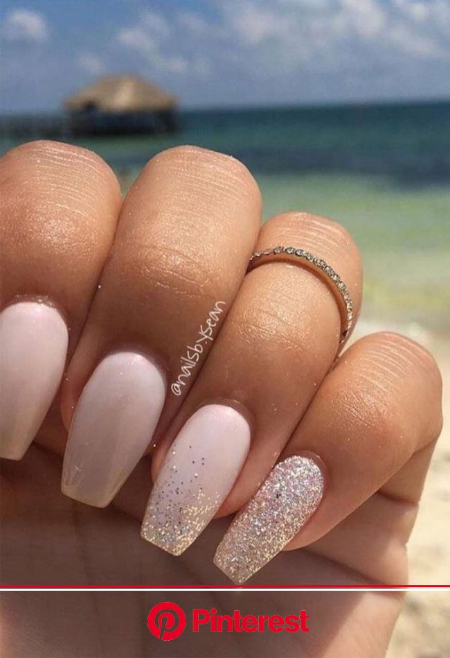 100 Beautiful wedding nail art ideas for your big day in 2020 | Romantic nails, Simple wedding nails, Wedding nails french