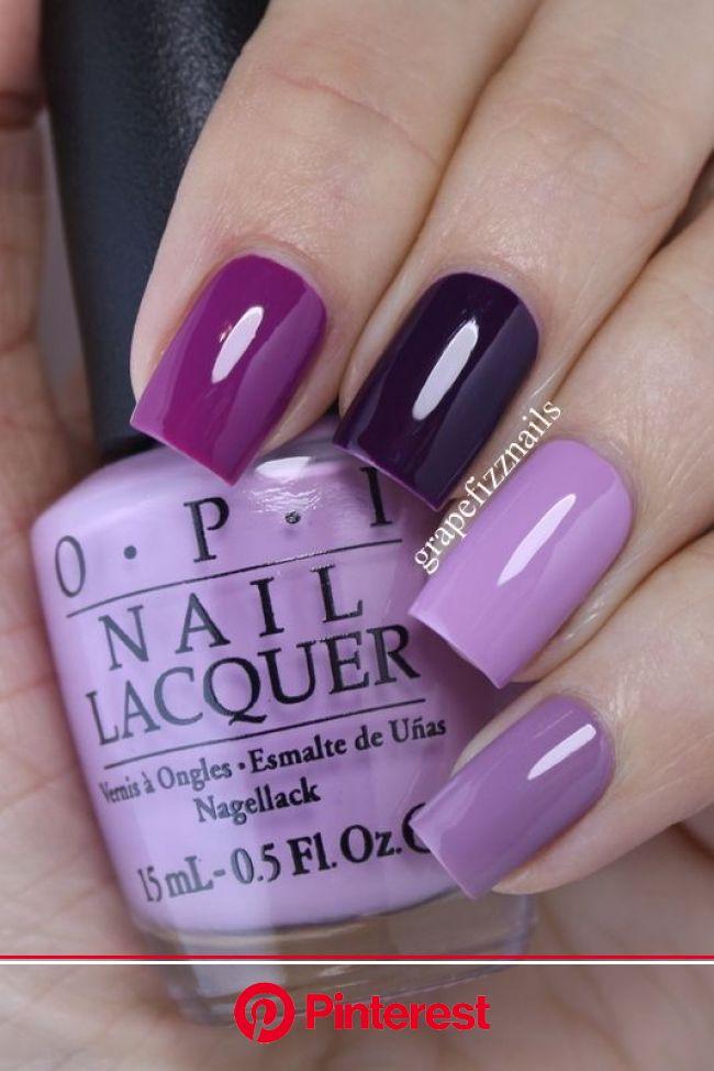 Purple Skittle Mani | Purple nails, Nail colors, Manicure