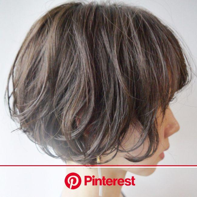 野暮ったい?いや、全然♡暗めグラデーションカラーヘアカタログ【HAIR】 | ボブ パーマ 40代, 髪型 ボブ パーマ, ヘアスタイル