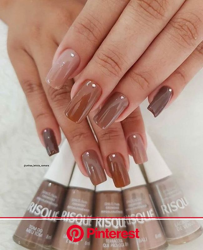 Image shared by @deia27. Find images and videos about love, fashion and cute on We Heart It - the app to get lost in what you… | Brown nails, Manicure