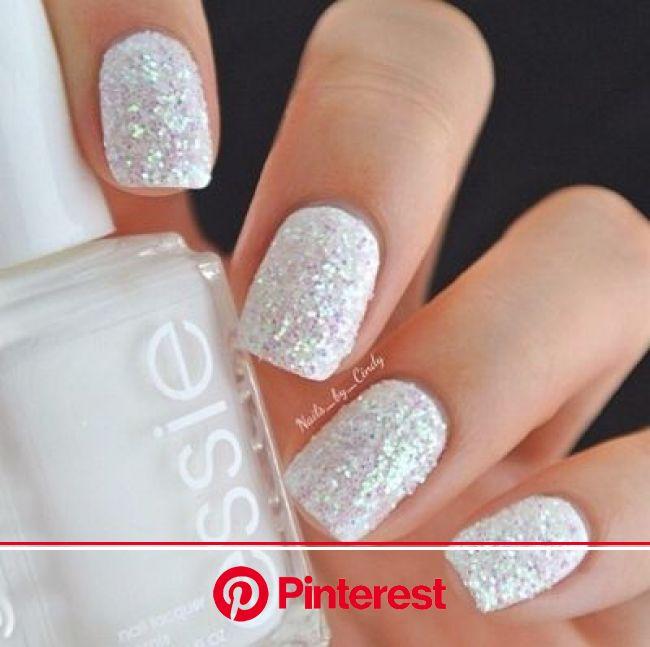 Twitter / NailsPorn: Wedding sparkle nails ... | Trendy nails, Sparkle nails, Essie nail
