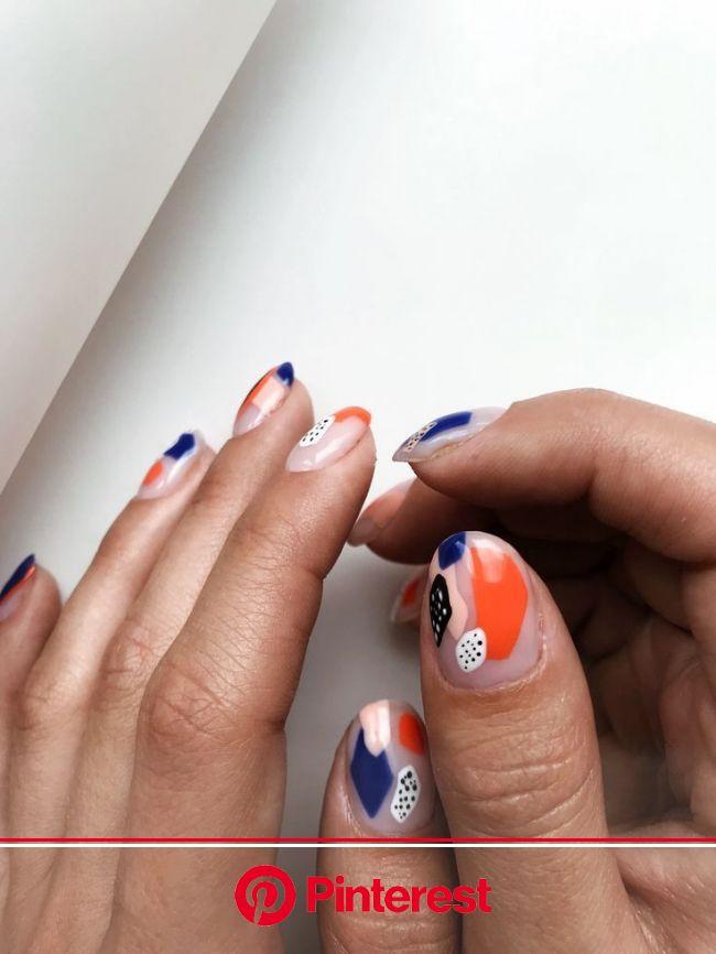 Instagram,  #Instagram #negledesignOrange | Trendy nails, Gel nails, Manicure