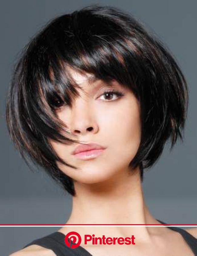 Les tendances coupes de cheveux de l'automne/hiver | Coupe de cheveux, Coiffure carré court, Carré court dégradé avec frange