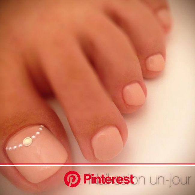 20 Adorable Toe Nail Designs for 2016 - Pretty Designs #ootd #nailart - Urban Angels   Pink toe nails, Simple toe nails, Feet nails