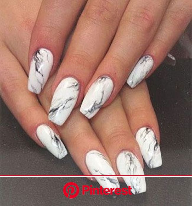 145 Beautiful Marble Nails to Copy Right Now | Marble acrylic nails, Marble nail designs, Acrylic nail designs