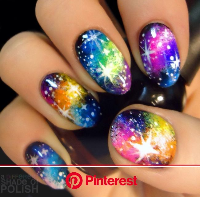 Repost of galaxy nails I did last year. I'll be posting a tutorial in a couple days so check back soon! | Nail art designs, Galaxy nails, Ga