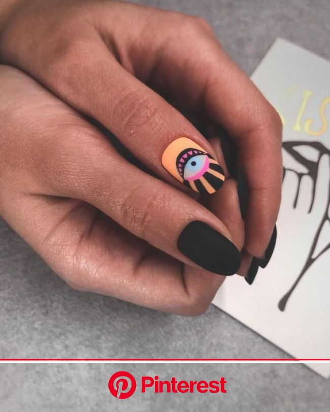 15 Edgy And Dramatic Black Nails Ideas | Stylish nails art, Nails, Fashion nails