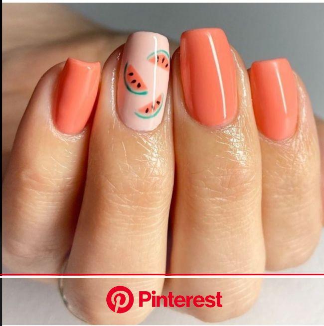 50+ Dainty Fruit Nails Perfect For Summer - The Glossychic | Cute gel nails, Lemon nails, Short acrylic nails designs