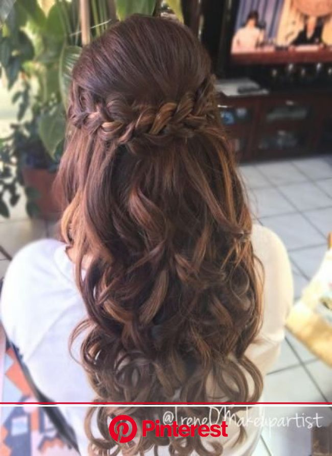 Hair Styles Wedding Curls Half Up 51 Ideas Hair Styles Wedding Curls Half Up 51 Ideas | Prom hairstyles for long hair, Hair styles, Long hair styles
