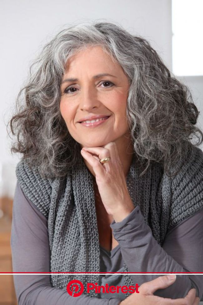 45 Cute & Youthful Short Hairstyles for Women Over 50 | Gorgeous gray hair, Grey curly hair, Medium hair styles