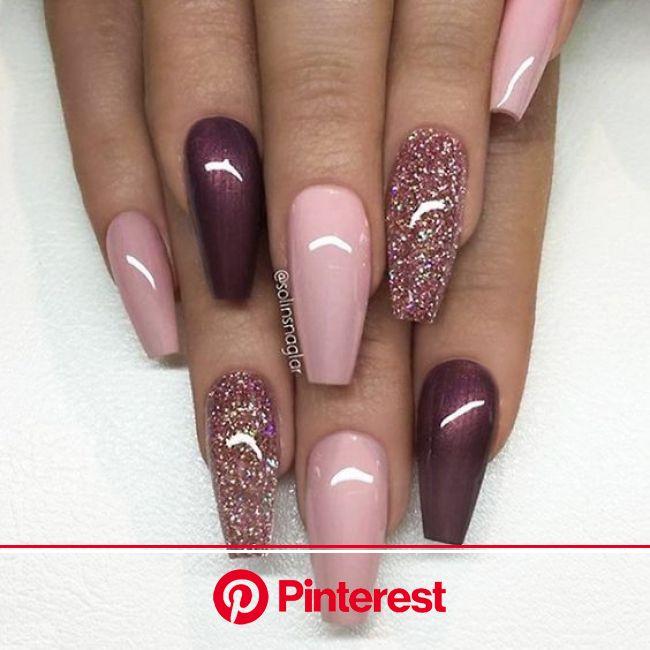 #nails #christmas #christmasnails #makeuptrend #nail #nailtrend #makeup #beauty #ideas  https://wehea…   Burgundy nails, Burgundy nail designs, Coffin