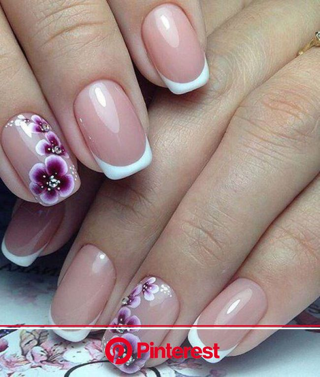 25 Delicate Flower Nail Designs Adding Lovely Blooms To Your Fingertips! | Stylish nails art, Flower nail art, Spring nail art