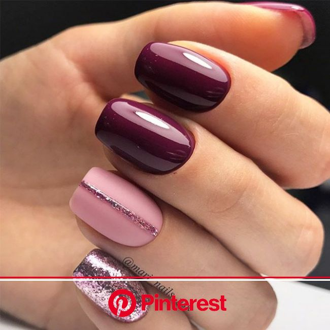 65+ Must Try Fall Nail Designs And Ideas | Purple nails, Simple nails, Trendy nails