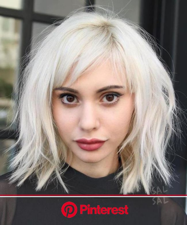 Most Popular Hair Color Trends 2017, Top Hair Stylists Weigh In (With images) | Oval face hairstyles, Short hair with bangs, Thick hair styles