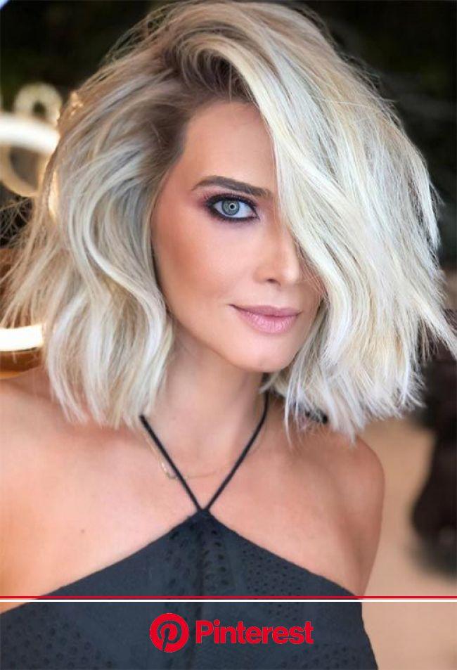 59 Icy Platinum Blonde Hair Ideas: Platinum Hair Color Shades to Inspire | Platinum blonde hair color, Short hair styles for round faces, Medium lengt