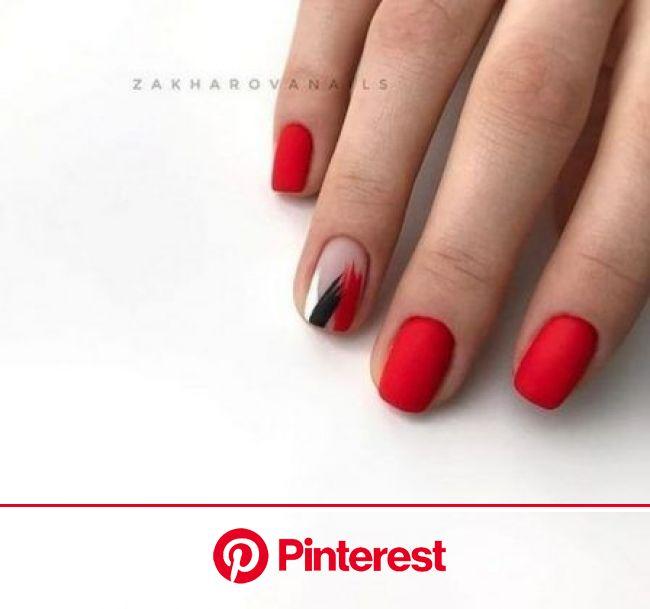 Красивый маникюр на короткие ногти 2021-2022: фото идеи маникюра на короткие ногти | Ногти, Дизайнерские ногти, Красные ногти