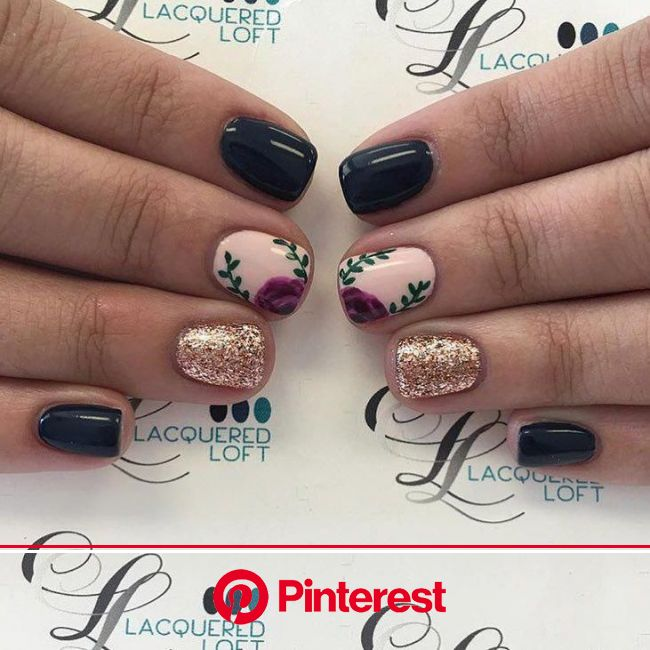 #shortnaildesigns | Nails, Floral nails, Fancy nails