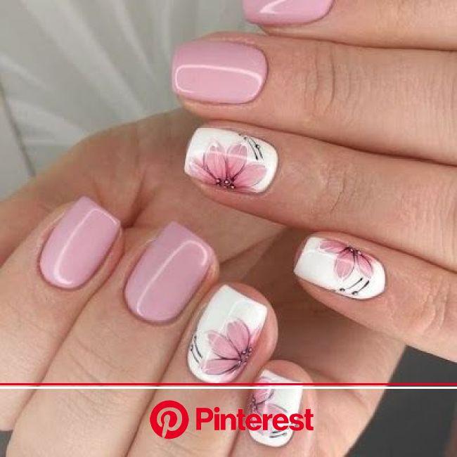 Short summer nail art design | Short acrylic nails designs, Short acrylic nails, Fall nail art designs