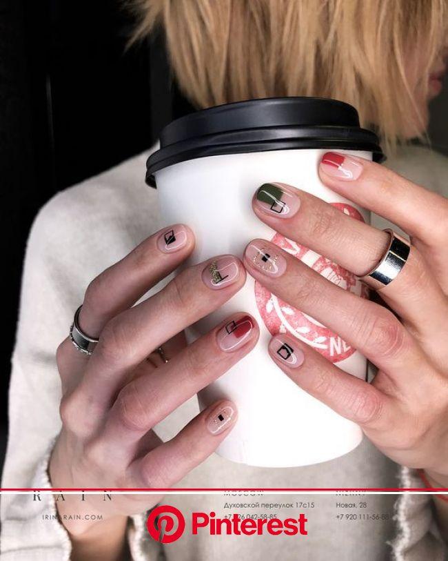 Стильный маникюр 2019 тенденции, новинки фото | Ногти, Идеи для ногтей, Этнические ногти