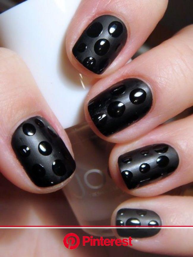 Attention Everyone: 15 Reasons to NOT Retire Black Nail Polish! | Simple nails, Dots nails, Nails