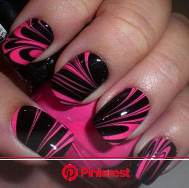 50+ Beautiful Pink and Black Nail Designs 2017 | Nail designs, Nail art designs, Marble nail art