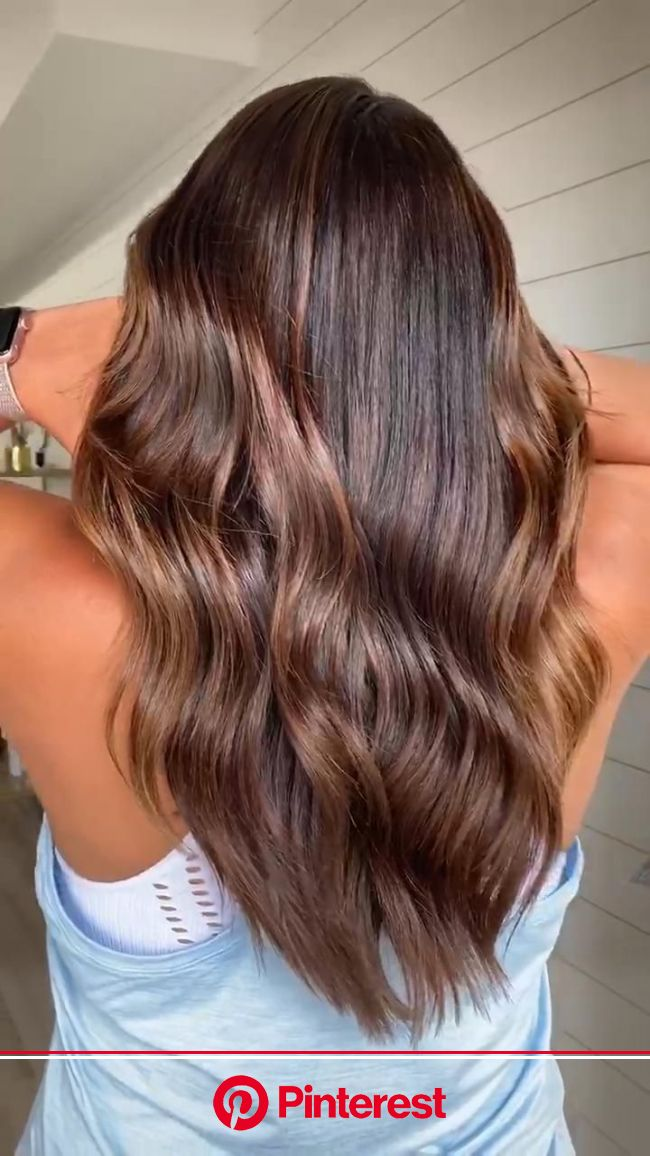 Brunette Balayage Highlights [Video] | Dark hair with highlights, Balayage, Hair highlights