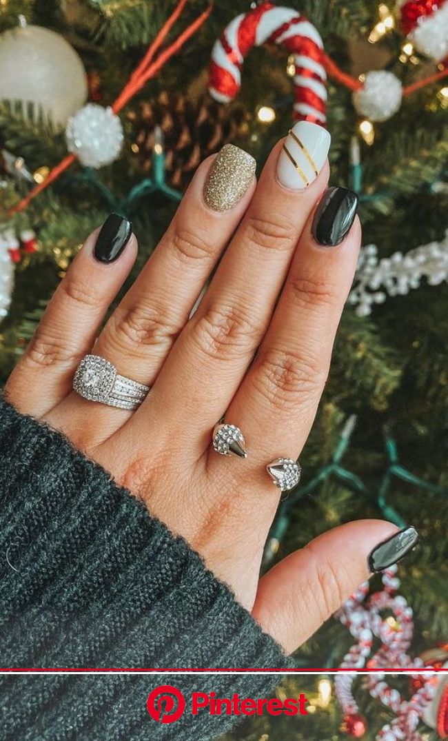 50+ Stylish Christmas Nail Colors and How To Do Them | in 2020 | Fall gel nails, Christmas gel nails, Fall acrylic nails