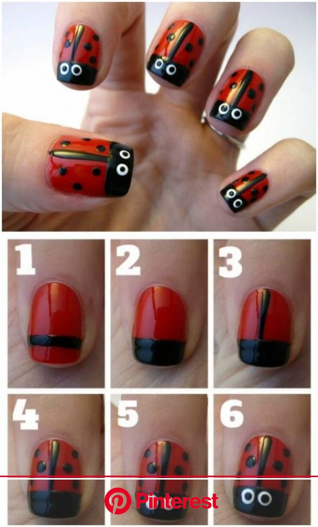 Top 101 Most Creative Spring Nail Art Tutorials and Designs | Ladybug nail art, Ladybug nails, Creative nail designs