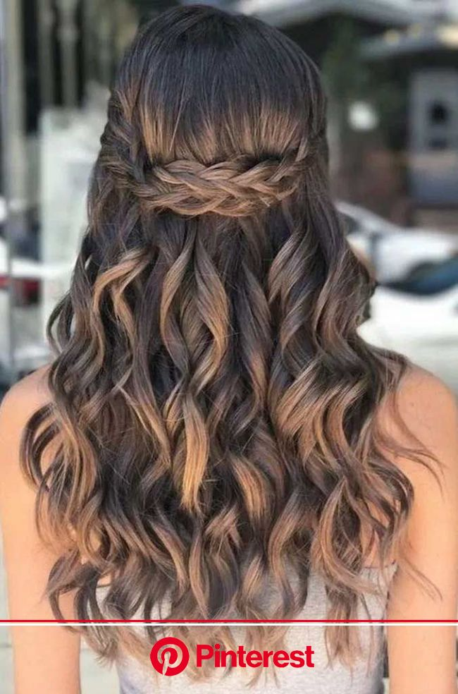 43 Gorgeous Half Up Half Down Hairstyles That Perfect For A Rustic Wedding Easy Hairstyles For Long Hair Curly Hair Styles Naturally Long Curly Ha Clara Beauty My
