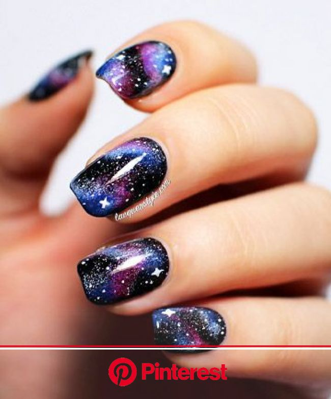 27 Cute Nail Designs You Need to Copy Immediately | Nail art manicure, Galaxy nail art, Nail art